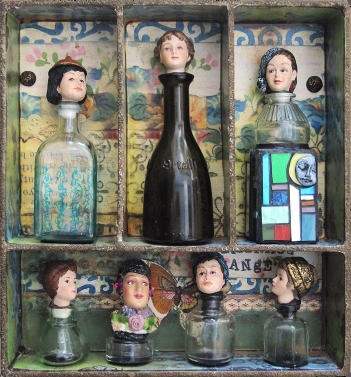 Judy Jordan, Figurative Gallery, Bottle Babies