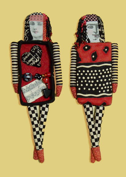Judy Jordan, Figurative Gallery, Red and Black (Two-Sided)