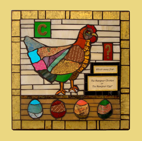 Judy Jordan,  Non Figurative Gallery, Which Came First The Designer Chicken or The Designer Egg
